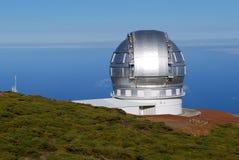 Telescopios en el La Palma Imagen de archivo