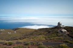 Telescopios en el La Palma Imágenes de archivo libres de regalías