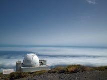 Telescopios en la tapa más alta del La Palma Imagenes de archivo
