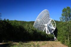Telescópio de rádio gigante nas madeiras Fotografia de Stock Royalty Free