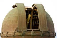 Telescópio no obervatório de Griffith em L.A. Fotos de Stock Royalty Free