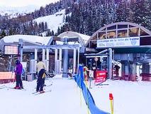 Telesiege de la tete De Balme ski station, Chamonix, France Stock Photos