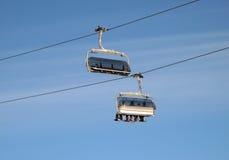 Telesilla del esquí Imagenes de archivo