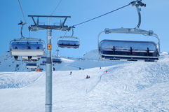 Telesilla del esquí   Imágenes de archivo libres de regalías