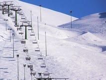 Telesilla del invierno Imagen de archivo libre de regalías