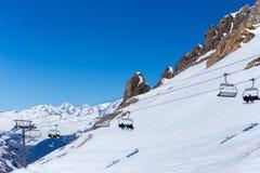 Telesilla en una estación de esquí Foto de archivo
