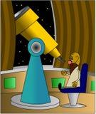 teleskop astronoma Zdjęcia Royalty Free