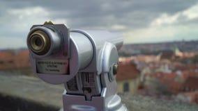 Teleskop dla turystów w Praga zbiory wideo