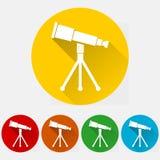 Teleskop ikony set Zdjęcia Stock