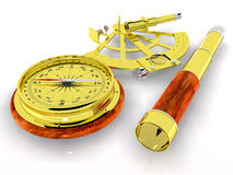 Teleskop, Kompass und Sextant vektor abbildung