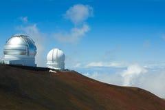 Teleskop på Mauna Kea Royaltyfria Bilder
