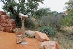 Teleskop przy stopą góra zdjęcie royalty free