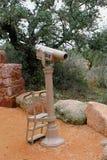 Teleskop przy stopą góra zdjęcia royalty free