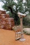 Teleskop przy stopą góra zdjęcie stock