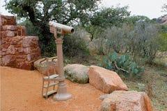 Teleskop przy stopą góra obrazy royalty free