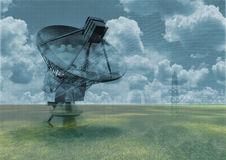 teleskop radiowego Obraz Royalty Free