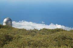 Teleskop in Roque de Los Muchachos La Palma spanien Stockbild