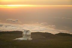 Teleskop in Roque de Los Muchachos La Palma spanien Stockfoto