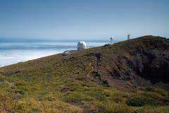 Teleskope am La Palma Stockbild