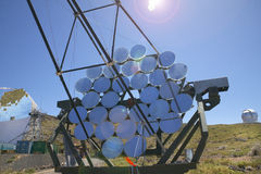 Teleskope in Roque de Los Muchachos La Palma spanien Lizenzfreies Stockbild