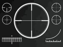 Teleskopisch, Anblick, Kreuz des Scharfschützegewehrs oder Brummen Lizenzfreies Stockbild