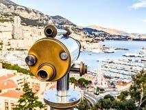 Teleskopsikt i Monaco Arkivbild