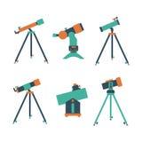 Teleskopsymbol royaltyfri illustrationer