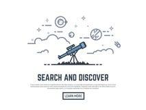 Teleskopu gmerania sztandar Obraz Royalty Free