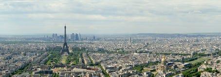 Teleskopu widz i miasto linia horyzontu przy dniem. Paryż, Francja Obraz Royalty Free