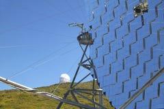 Teleskopy w Roque De Los Muchachos Los Angeles Palma Hiszpania Zdjęcie Stock