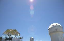 Teleskopy w Roque De Los Muchachos Los Angeles Palma Hiszpania Zdjęcia Royalty Free