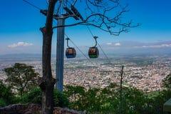 Telespheric und Ansicht von Salta, Argentinien stockbilder