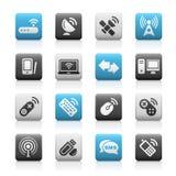 teletechnicznych ikon teletechniczne serie bezprzewodowe ilustracja wektor