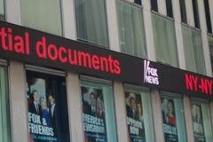 Teletipo de Fox News Fotos de archivo libres de regalías