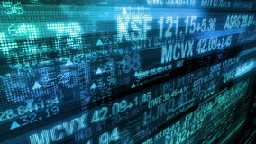 Teletipos del mercado de acción - fondo de exhibición de datos de Digitaces almacen de video