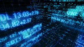Teletipos del mercado de acción - fondo de exhibición de datos de Digitaces almacen de metraje de vídeo