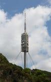 Teletower op de berg van Tibidabo in Barcelona, Spanje royalty-vrije stock fotografie
