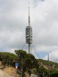 Teletower op Tibidabo-berg in Barcelona, Spanje royalty-vrije stock afbeelding