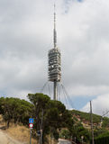 Teletower on Tibidabo mountain in Barcelona, Spain Royalty Free Stock Image