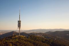 Teletower Torre de Collserola Images stock