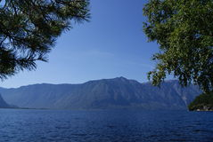 Teletskoe lake. Royalty Free Stock Photos