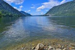Teletskoye or Golden lake. Altai mountains summer landscape Royalty Free Stock Photos