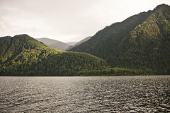 Teletskoye lake, Altai mountains landscape Royalty Free Stock Photography
