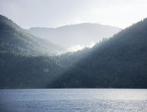 Teletskoye lake. Altai mountains landscape Royalty Free Stock Photography