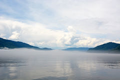 Teletskoye lake Stock Photo