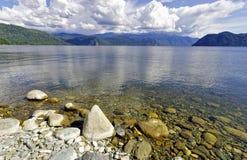 Teletskoye lake views Royalty Free Stock Photo