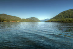 Teletsky mountain lake in Altay Royalty Free Stock Photography