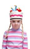 Teleurgesteld meisje in belachelijk GLB Royalty-vrije Stock Afbeeldingen