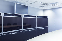 Televergaderen, videoconferentie en telepresence het scherm Royalty-vrije Stock Fotografie