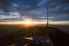 Televesion tower on top of uetliberg. Zurich ,Switzerland Royalty Free Stock Image
